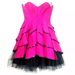 NWT Betsey Johnson Pink Evening Collection Dress